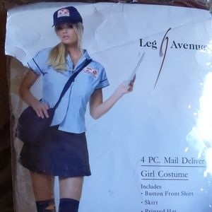 Leg Avenue 4 piece Sexy Mail Delivery Girl Costume